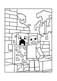 Minecraft Coloring Pages As Well Sword With Steve Diamond Armor Plus
