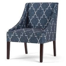Blue Pattern Accent Chair Impressive Wyndenhall Lilith Cobalt Blue Moroccan Pattern Accent Chair Cobalt