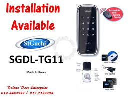 st guchi digital door lock tg11 for glass door furniture decoration for in kajang selangor