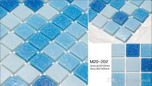 glass mosaic tile pool mosaic sky blue color mosaic tile flooring tile for pool bathroom kitchen