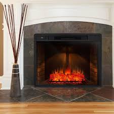 freestanding 3d logs flame electric fireplace insert