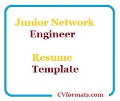 Junior Network Engineer Resume Template | Cvformats.com