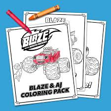 Blaze And Aj Coloring Pack Nickelodeon Parents