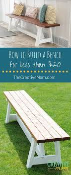 Deck Bench Plans Free  HowToSpecialist  How To Build Step By How To Build A Seating Bench