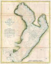 1855 Coastal Survey Map Nautical Chart Tampa Bay Florida