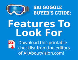 Ski Goggles How To Choose The Best Frames And Lenses