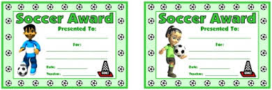soccer awards templates this certificate of achievement is awarded to someone showing