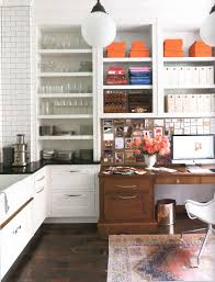 kitchen office pinterest desks. The Integrated Beautiful Wood Desk In This Kitchen Filled With Open Shelving Is Perfect. I Love A Multi-purpose Room. Nina Farmer Designer Office Pinterest Desks R
