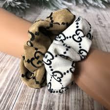 Designer Scrunchies Designer Inspired Scrunchie 2 Pack In 2019 Scrunchies