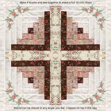 815 best patchwork original images on Pinterest | Patchwork ... & I love this calm color sceme, only 4 fabrics: ©Skeldale House, ITH Log Cabin Adamdwight.com