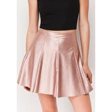 pink faux leather skirt loading zoom