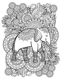 Digital original illustrated poster to be colored. Elephant Coloring Pages 12 Free Fun Printable Elephant Coloring Pages For Kids Adults Printables 30seconds Mom