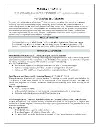 Technical Resume Objective Examples Vet Tech Resume Samples Surgical Technician Resume Sample Cover 100