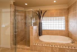 pics of bathroom designs: traditional master bathroom with glass block quot x quot icescapes block