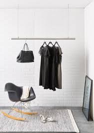 ... Wardrobe Racks, Hanging Clothes Rack Clothes Rack Ikea Long Brushed  Chrome Hanger Rack Space Saving ...