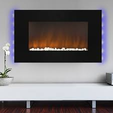 best choice products 1500w heat adjustable 36 wall mount electric fireplace heater multi color led
