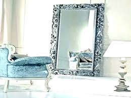 silver full length mirror with jewelry storage free standing furniture amusing extra french large floor big silver full length mirror