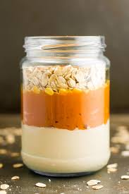 pumpkin e latte protein overnight oats