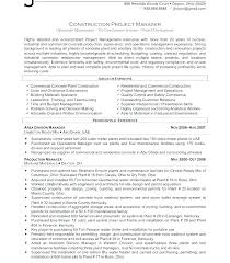 Construction Project Manager Resume Sample Junior Project Manager