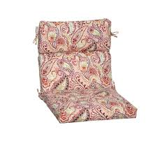 Hampton Bay Chili Paisley Outdoor Dining Chair Cushion Tg0y216b