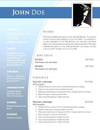 Professional Resume Format In Word Resume Formats For Word Resume Template Word Download Australia