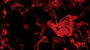 Dark Red Butterfly Wallpaper