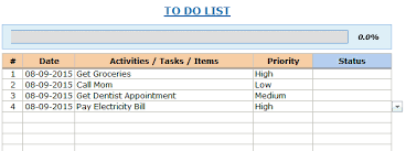 to do lists excel excel to do list template free download