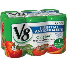 v8 original essential antioxidants 100 vegetable juice 6pk