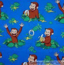 Curious George Fabric | eBay & BonEful Fabric FQ Cotton Quilt Blue Yellow Kid Baby Book L CURIOUS GEORGE  Banana Adamdwight.com