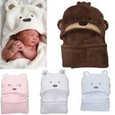<Click Image to Buy> <b>Animal Hooded Baby Bathrobe</b> Coral Fleece ...