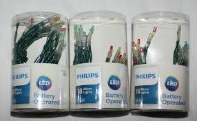 Philips Led Christmas Lights Battery Powered 3 New Philips Battery Operated Micro Lights Multi Led Green Wire Christmas