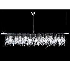 linear chandelier modern pendant modern 10 light 40 crystal linear bar pendant chandelier