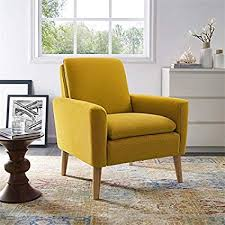 Mustard yellow furniture Turquoise Image Unavailable Amazoncom Amazoncom Lohoms Modern Accent Fabric Chair Single Sofa Comfy