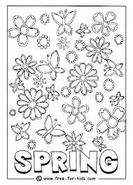 Spring Coloring Pages For Kindergarten Home Improvement Colouring