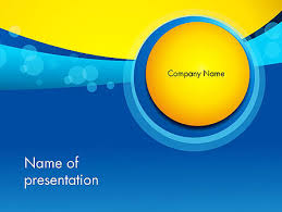 Blue And Gold Powerpoint Template Golden And Blue Abstract Powerpoint Template Backgrounds 13931