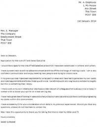 Retail Sales Executive Cover Letter Sarahepps Com