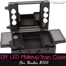 Sunrise Makeup Case With Lights Diy Makeup Train Case Diy Makeup Storage Makeup Storage