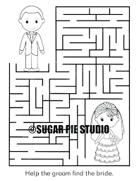 Wedding Coloring Pages Wedding Coloring Book For Kids Free Printable