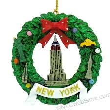 empire state building nyc wreath