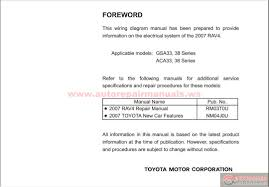 Toyota RAV4 2007 Electrical Wiring Diagram   Auto Repair Manual ...