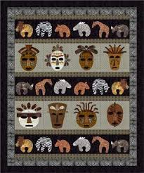 34 best Quilts-African images on Pinterest   Patchwork, Colors and ... & Savanna Flair Quilt pattern This quilt pattern has an African tribal theme  with easily fusible applique. This quilt is a great way to showcase those  animal ... Adamdwight.com
