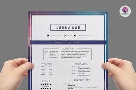 Free Modern Resume Templates Google Docs Modern Resume Template 3 Page Templates Creative Market Microsoft