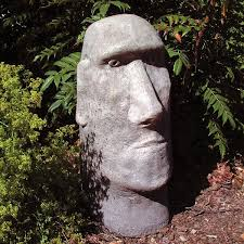 contemporary garden sculpture stainless steel large stone sculptures easter island s archaeological statues called moai