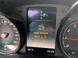 Mercedes C Class Engine Diagnostic Warning Light Mercedes Benz Stop Vehicle Shift To P Leave Engine Running