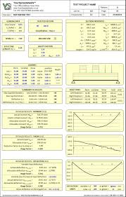 Free Steel Beam Design Calculator Steel Beam Design Spreadsheet To Eurocode 3