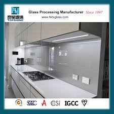 hot s customized printing easy clean tempered glass splashback for kitchen
