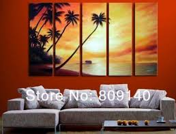 office wall paintings. Free Shipping Sea Sunset Seascape Oil Painting Canvas Artwork High Quality Handmade Home Office Wall Art Decor Decoration Gift Paintings O