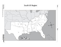 Us Map Regions Worksheets South Us Region Map Worksheet | thempfa.org