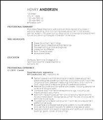 Mechanic Resume Template Simply Free Sample Resume For Diesel Mechanic Unforgettable Diesel 84