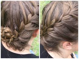 French Braid Updo Hairstyles French Braided Updo For Short Hair Summer Hairstyles Youtube